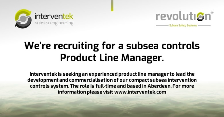 We're recruiting for a subsea controls Product Line Manager